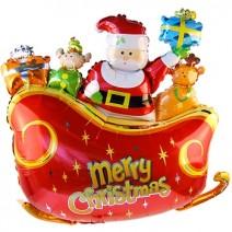 크리스마스 썰매산타(대형은박풍선)