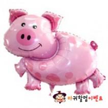 대형은박풍선 핑크돼지
