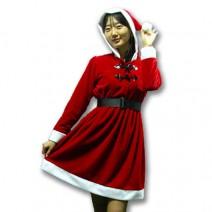 산타복여자후드원피스(성인)