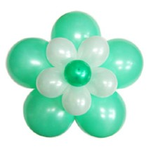 3단꽃풍선-펄민트그린(완성품)