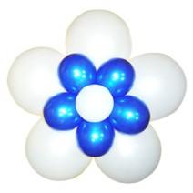3단꽃풍선-펄화이트&블루(완성품)