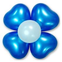 큰하트꽃풍선-펄블루(완성품)