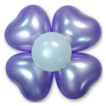 하트꽃풍선-펄라벤더(완성품)
