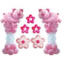 핑크돼지기둥세트(1쌍)-완성품무료배달
