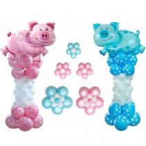 돼지기둥핑크&블루(1쌍)-완성품무료배달