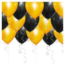 헬륨풍선(블랙&오렌지) 100개-차량무료배달