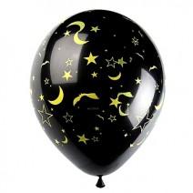 30Cm할로윈인쇄풍선(별,달,박쥐)