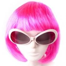 핑크단발머리가발(대여)