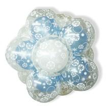 30Cm이중투명인쇄퍼프볼-블루(완성품)