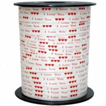인쇄컬링리본(사랑화이트)-500야드