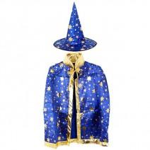 별무늬망토 의상+모자 세트(아동용-블루)