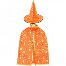 별무늬망토 의상+모자 세트(아동용-오렌지)