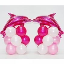 핑크돌고래 미니기둥1쌍 (완성품무료배달)