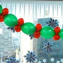 크리스마스풍선가랜드(만들기재료)