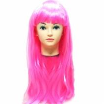 롱헤어 긴생머리가발 (핑크)