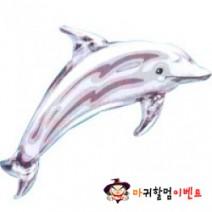 은박풍선 돌고래 (실버)
