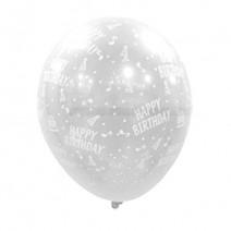 30cm 투명 생일인쇄 (10개)