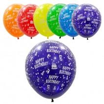 30cm 생일축하인쇄풍선 (100개)