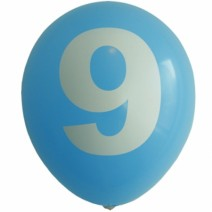 30cm 숫자풍선 ( 9 )