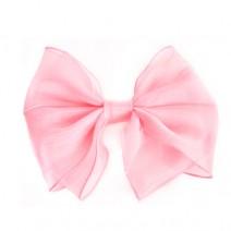 쉬폰리본머리핀(핑크)