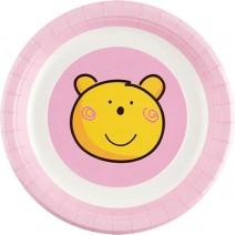 파티접시 핑크베어 (대) 6개