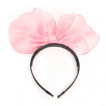 쉬폰리본머리띠(핑크)