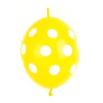 꼬리풍선 30cm 땡땡이 (10입) - 옐로우