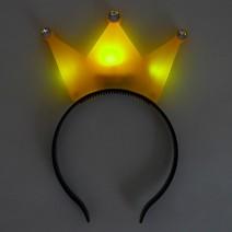 LED 왕관머리띠 (옐로우)