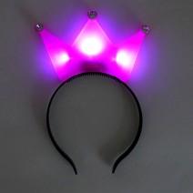 LED 왕관머리띠 (핑크)