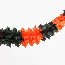 페이퍼 가랜드 (블랙&오렌지) 할로윈파티용 4m