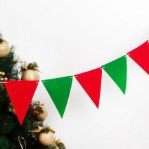 펠트 삼각파티플래그 (크리스마스)