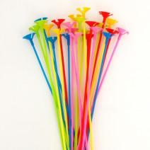 풍선용 칼라컵스틱 (24개) - 5색혼합