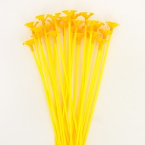 풍선용 칼라컵스틱 (24개) - 옐로우