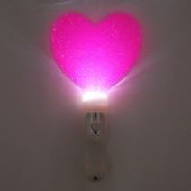 LED 칼라 하트봉 (핑크)