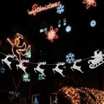 글리터 크리스마스썰매 가랜드