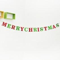 글리터 크리스마스 래터배너