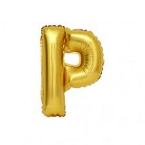 알파벳 은박풍선 (소) 골드 - P