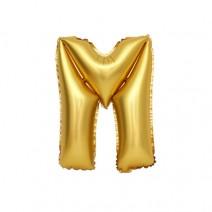 알파벳 은박풍선 (소) 골드 - M