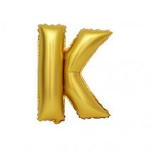 알파벳 은박풍선 (소) 골드 - K