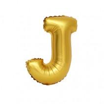 알파벳 은박풍선 (소) 골드 - J
