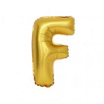 알파벳 은박풍선 (소) 골드 - F