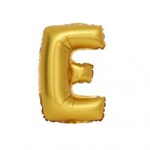 알파벳 은박풍선 (소) 골드 - E