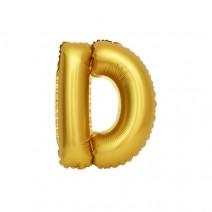 알파벳 은박풍선 (소) 골드 - D