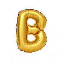 알파벳 은박풍선 (소) 골드 - B