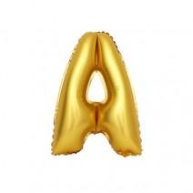 알파벳 은박풍선 (소) 골드 - A