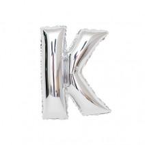 알파벳 은박풍선 (소) 실버 - K