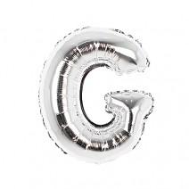 알파벳 은박풍선 (소) 실버 - G