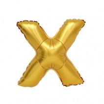 알파벳 은박풍선 (대) 골드 -X