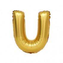 알파벳 은박풍선 (대) 골드 - U