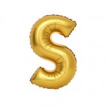 알파벳 은박풍선 (대) 골드 -S
